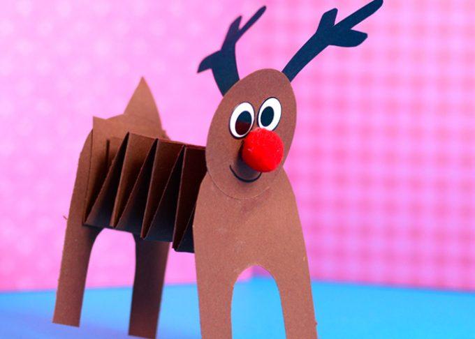 Accordion Paper Reindeer Craft