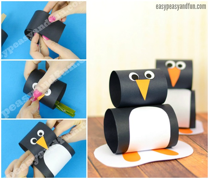Cute Paper Penguin Craft Idea for Kids