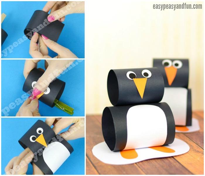Cute Paper Penguin Craft Idea for Kids