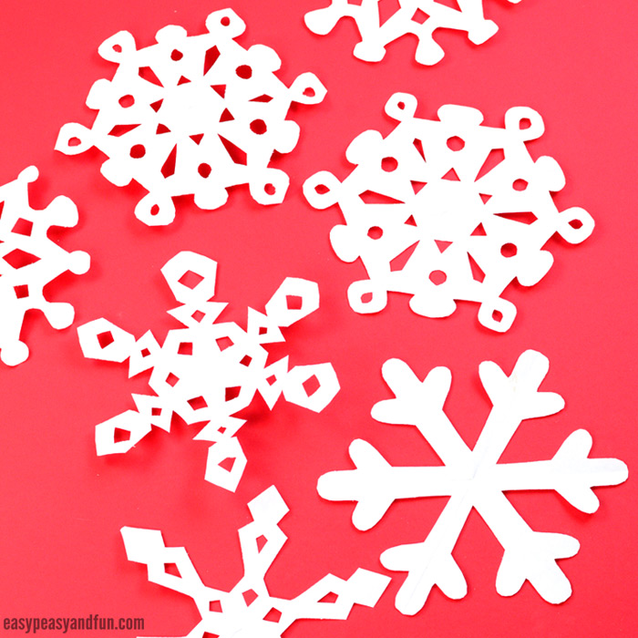 How to make paper snowflakes pattern templates easy for How to make winter crafts