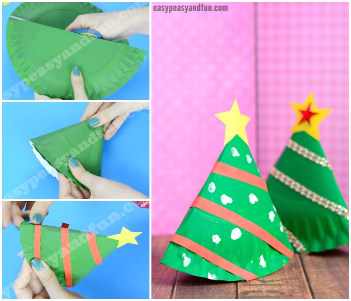 Lovely Rocking Paper Plate Christmas Tree