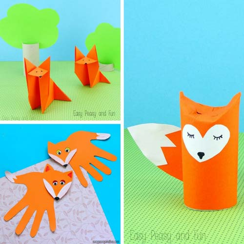 Many Fox Ideas - Animal Craft Ideas for Kids