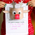 Reindeer Paper Craft for Kids & Writing Prompt