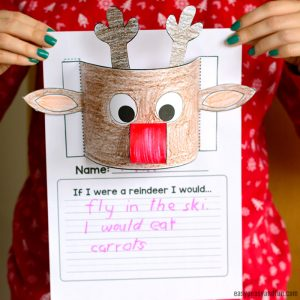 Reindeer Writing Prompt – Christmas Craftivity