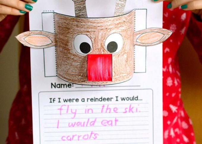 Reindeer Writing Prompt – Christmas Craftivity