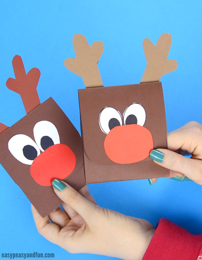 Reindeer Sticking out His Tongue Christmas Card Craft