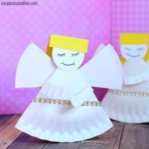 Rocking Paper Plate Angel