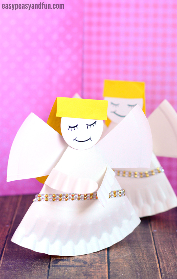 Rocking Paper Plate Angel Craft for Kids