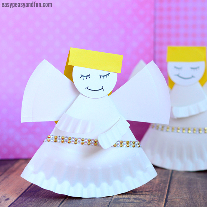Rocking Paper Plate Angel Craft