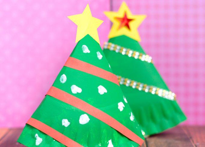 Rocking Paper Plate Christmas Tree