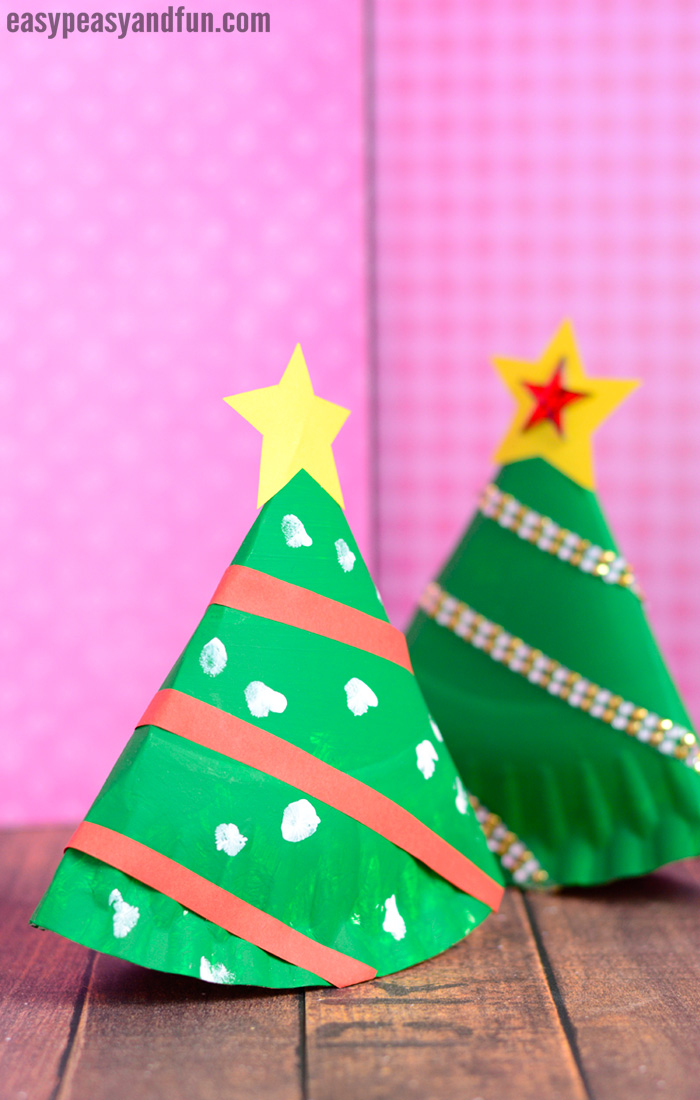 Rocking Paper Plate Christmas Tree Craft