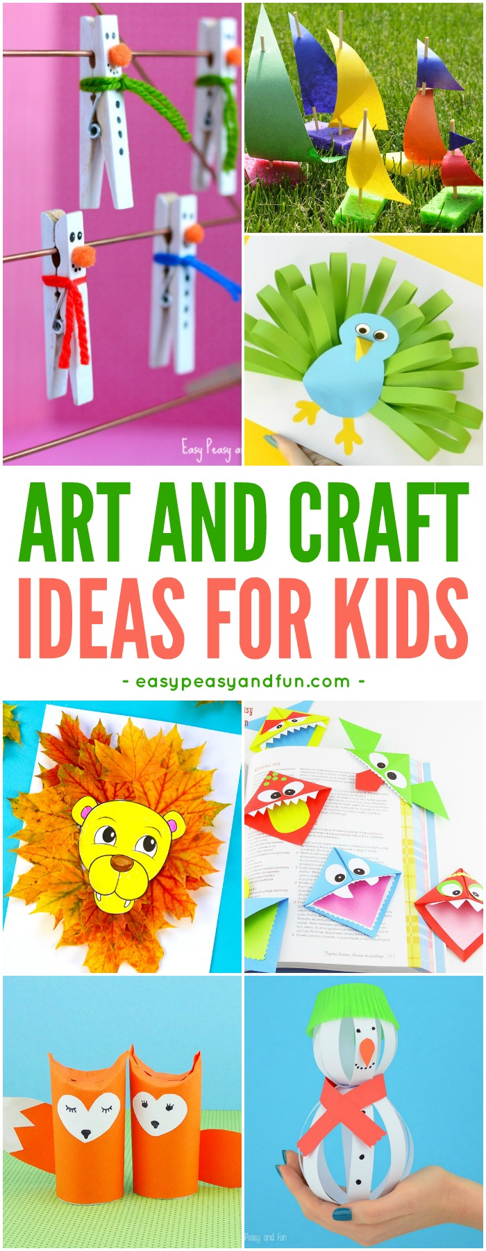 Tons Of Art And Craft Ideas For Kids To Make