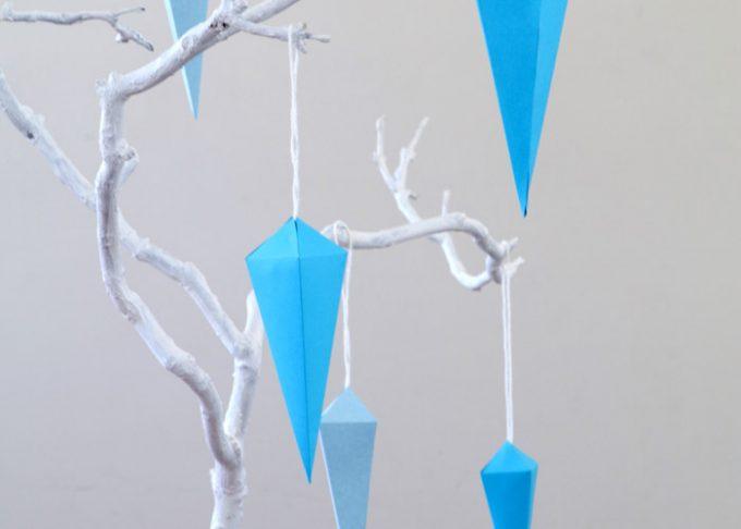 Geometric Icicle DIY Ornaments