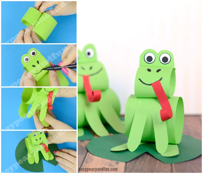 Construction Paper Frog Craft
