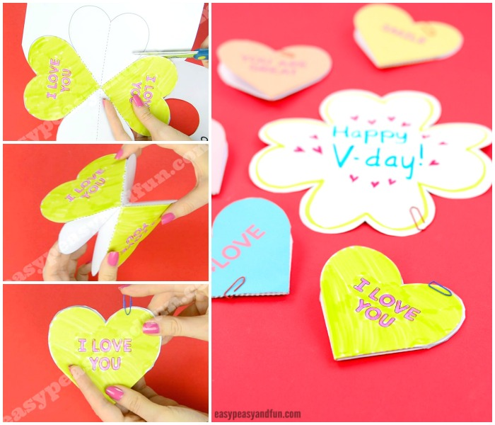 Conversation Hearts Valentines Day Cards With Printable Templates