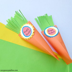 Easter Carrot Treat Box Craft with Printable Template