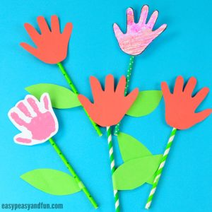Handprint Flower Craft Simple Art Or Project