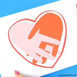 Handprint Heart Craft Idea