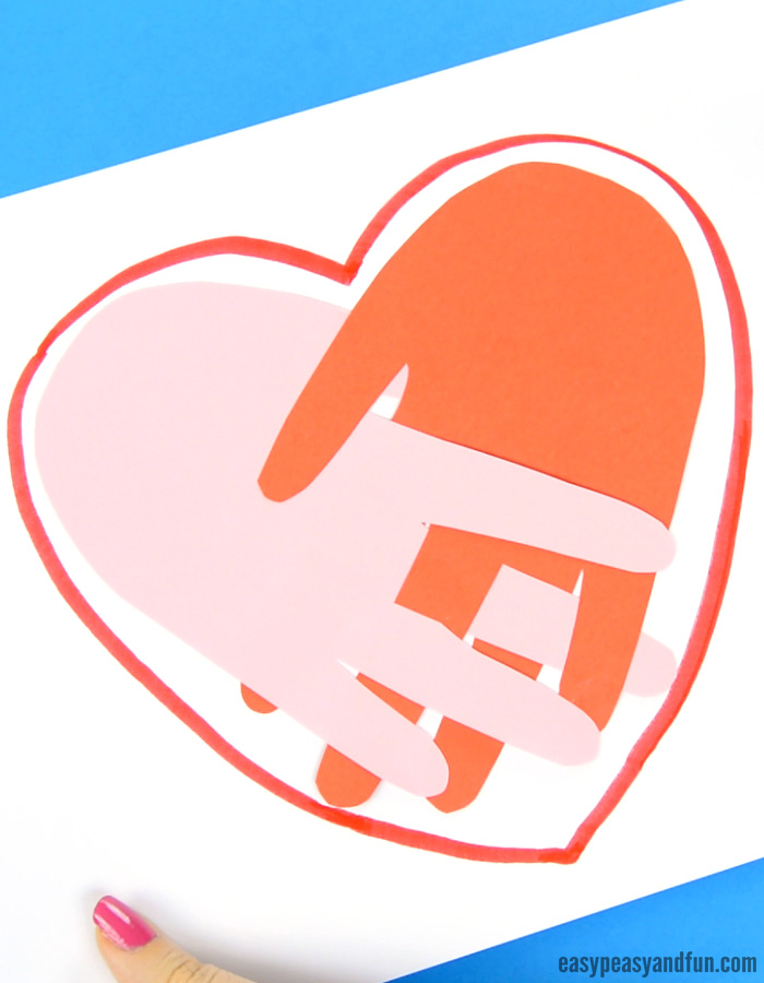 Handprint Heart Craft for Kids