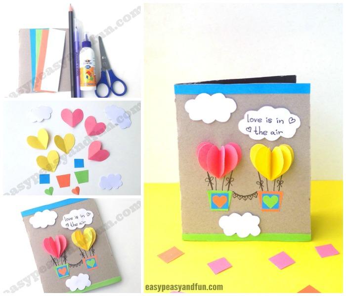 Heart Air Balloons Card Craft