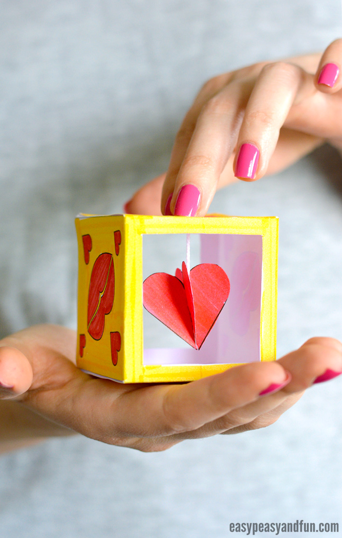 Heart Box Paper Craft for Kids