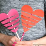 Heart On a Paper Straw Craft for Kids