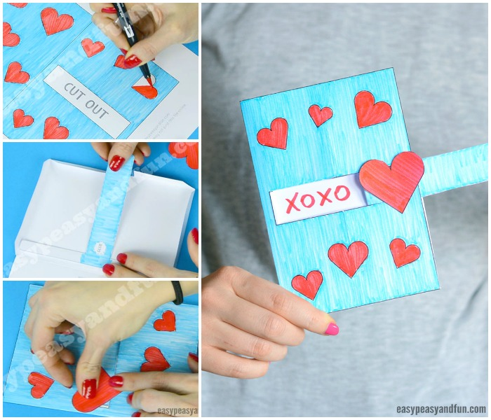 Hidden Message Valentine's Day Card Craft Idea