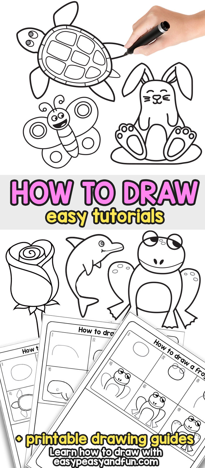 How to draw step by step drawing for kids and beginners howtodraw