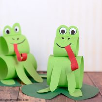 Construction Paper Frog Craft – Sitting on A Water Lily Leaf