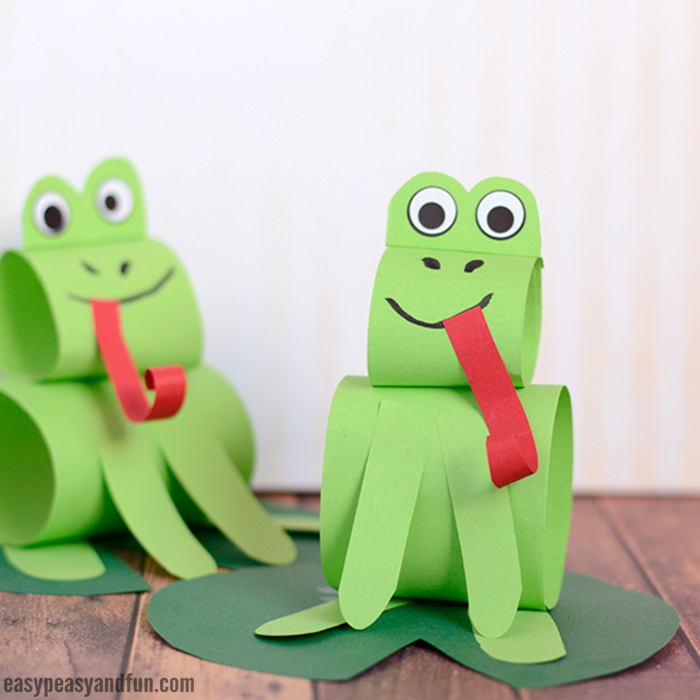 Paper Frog Craft for Kids to Make
