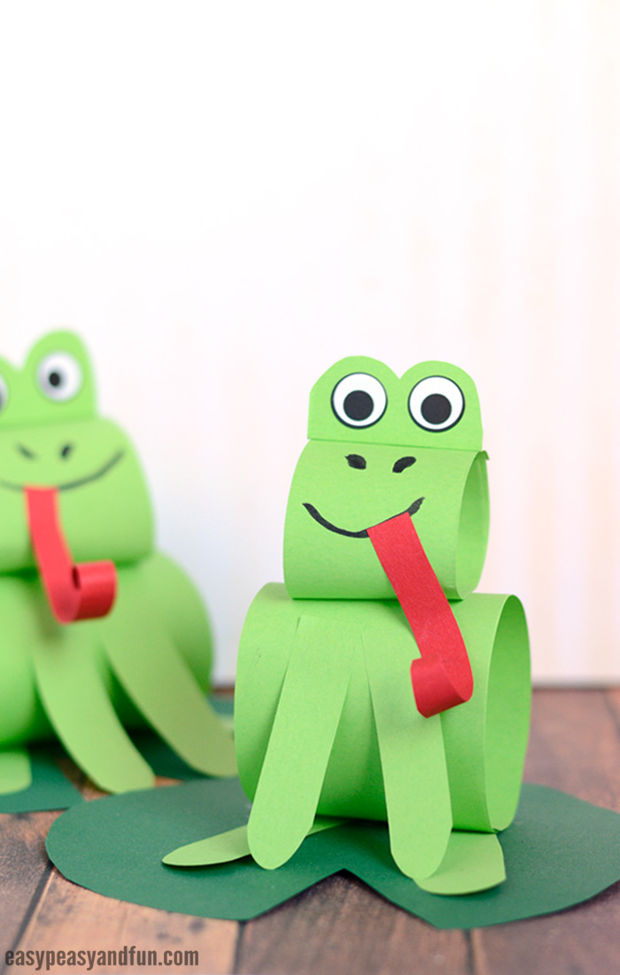 Paper Frog Craft for Kids