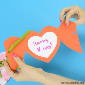 Paper Heart Card Template Craft