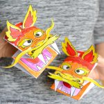 Printable Chinese Dragon Puppets Craft