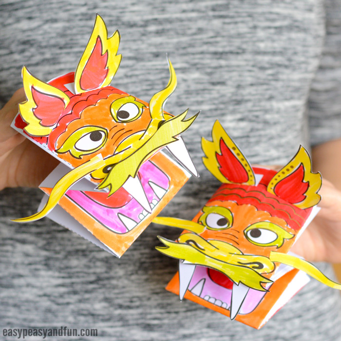 picture regarding Printable Dragons named Printable Chinese Dragon Puppet - Basic Peasy and Exciting