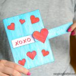 Pull Out Valentine's Day Craft with Template