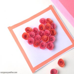 Rose Filled Heart Card Craft
