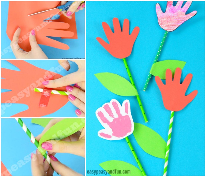 Simple Handprint Flower Craft