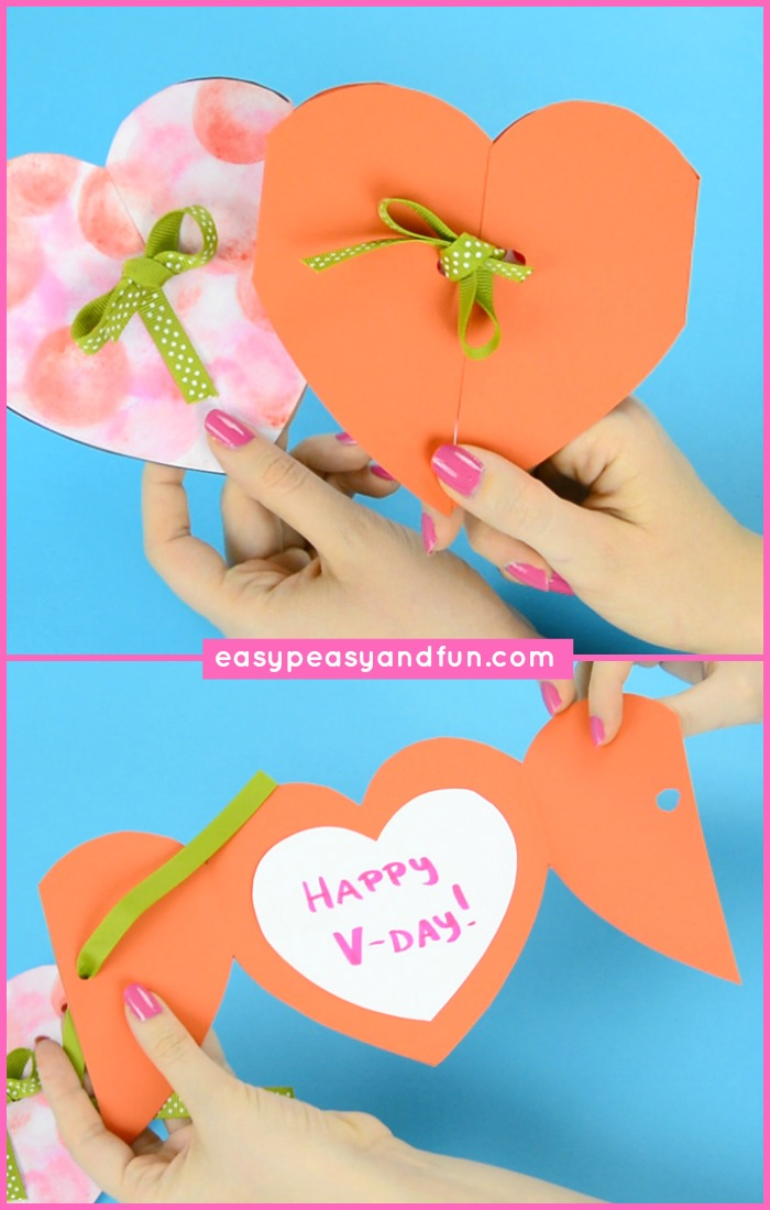Simple Heart Card Valentine's Day Craft for Kids