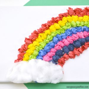 Tissue Paper Rainbow Canvas Art Idea