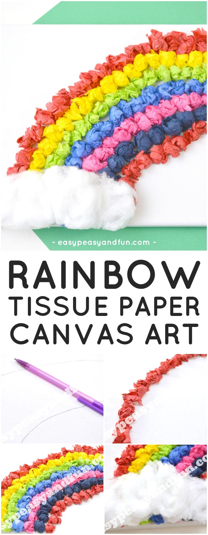 tissue paper rainbow canvas art tissue paper rainbow canvas easy peasy and 7244