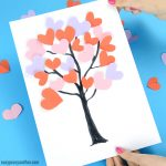 Tree With Paper Hearts Art