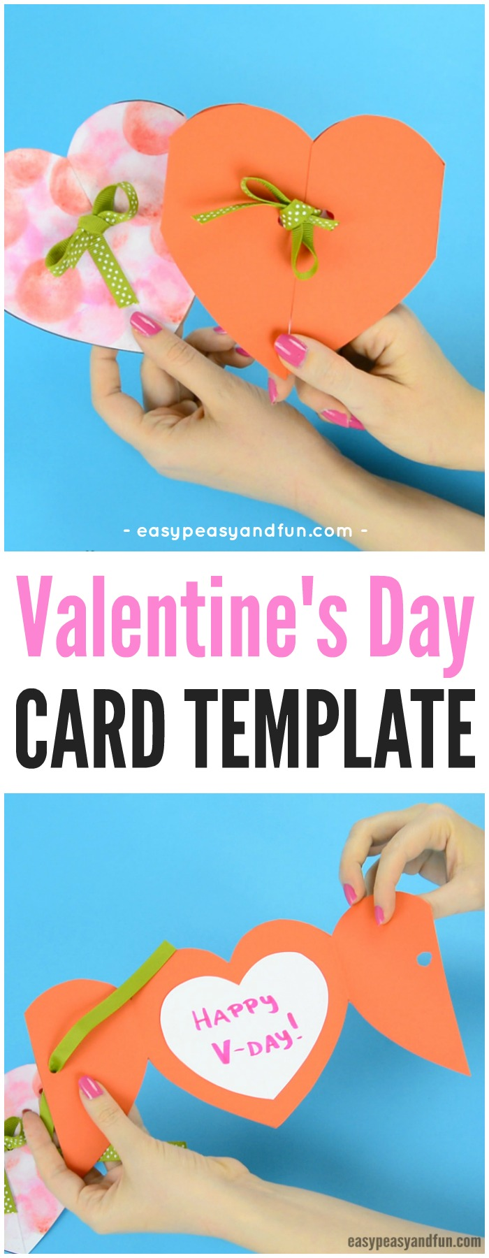 Valentine's Day Heart Card Craft with Template #craftsforkids #Valentinesdaycraftsforkids #heartcraftsforkids
