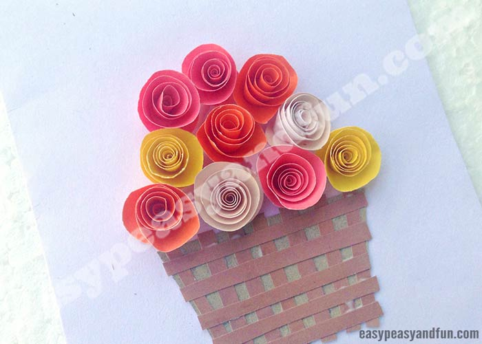 diy rolled paper roses valentines day card diy rolled paper roses valentines day or s day card 8057
