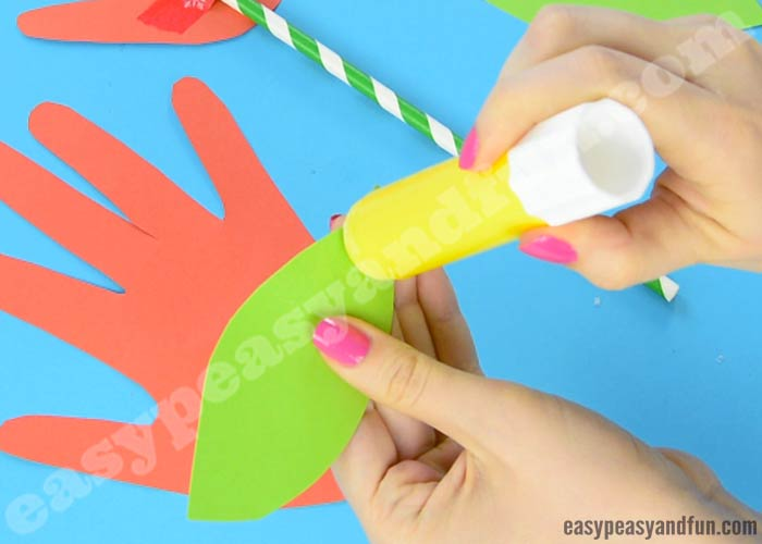 Handprint Flower Craft - Simple Art or Craft Project - Easy