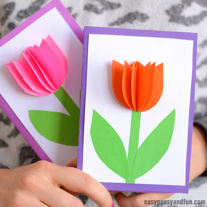 Tulip Card Craft For Kids