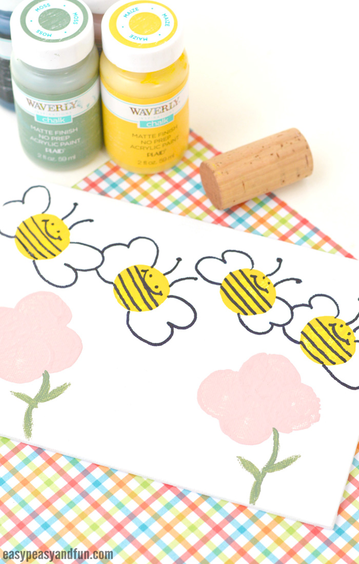 Adorable Cork Bee Craft for Kids