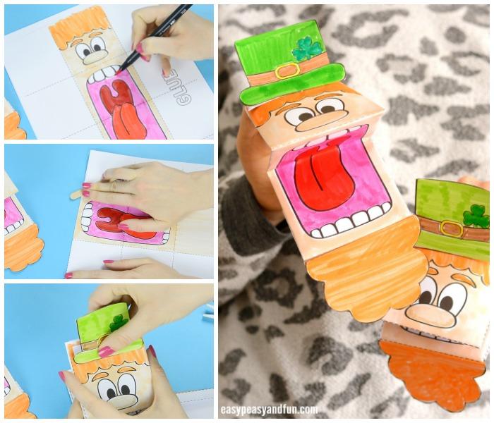 Adorable Printable Leprechaun Puppet