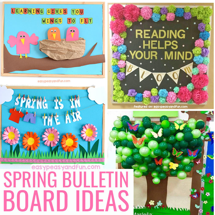 photograph about Free Printable Bulletin Board Borders Template referred to as Spring Bulletin Board Strategies for Your Clroom - Simple Peasy