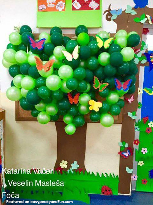 Balloon Spring Tree Bulletin Board
