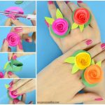 DIY Flower Paper Rings – Handy Craft Template Included